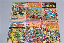Lot of 6 Vintage Marvel Comic Books SGT FURY SPEC