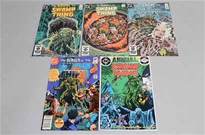 Lot of 5 Vintage DC Comic Books SWAMP THING