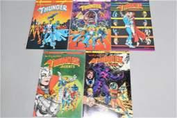 Lot of 5 Vintage Comic Books THUNDER AGENTS