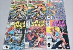 Lot of 6 Vintage Marvel Comic Books RED SONJA