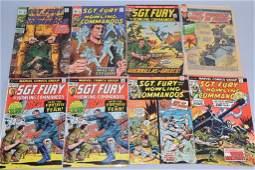 Lot of 8 Vintage Marvel Comic Books SGT FURY