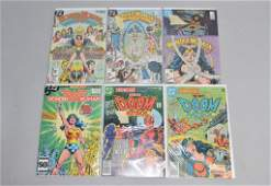 Lot of 6 Vintage DC Comic Books WONDERWOMAN