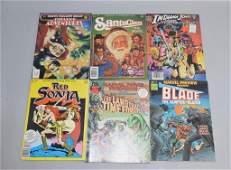 Lot of 6 Vintage Comic Books RED SONJA, INDIANA J