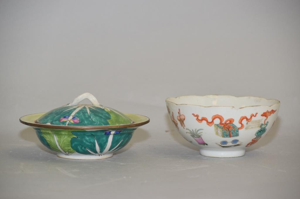 Two 19th C. Chinese Famille Rose Porcelain Bowls