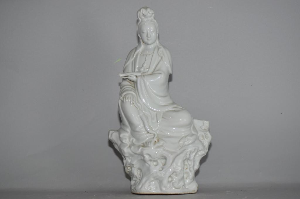Qing Chinese Blanc de Chine Guanyin, JingDeZhen