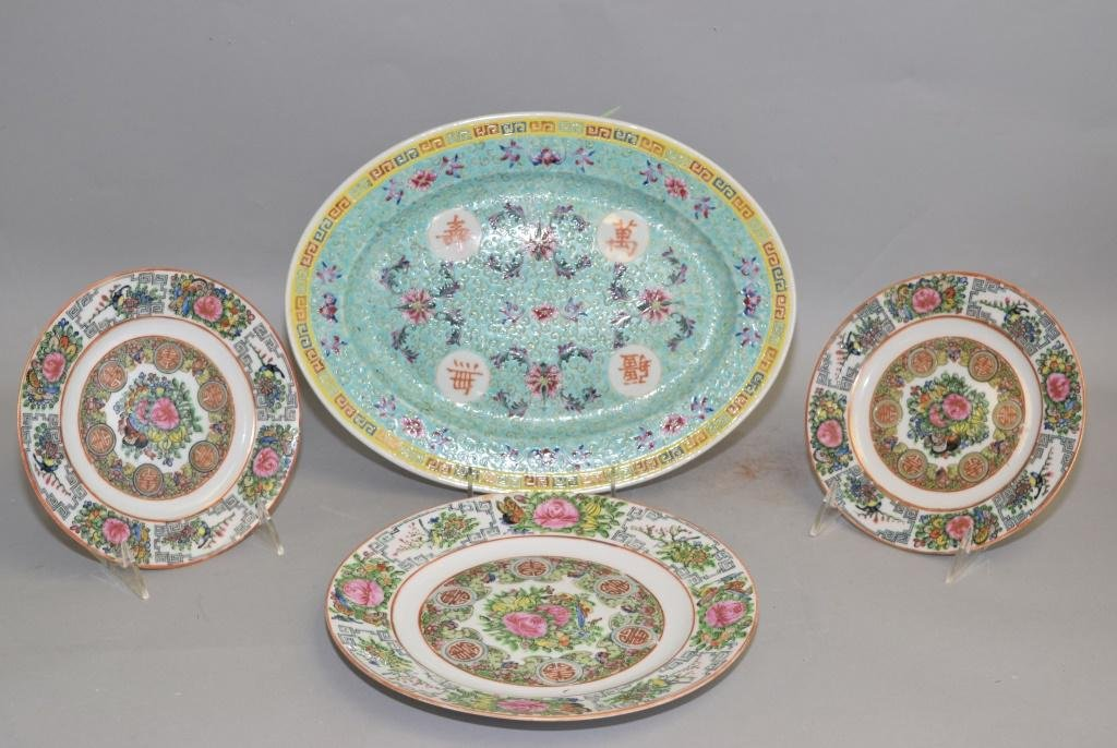 Group of 19th C. Chinese Export Famille Rose Wares