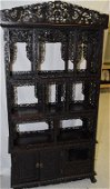 Qing Chinese Guangdong Export Rosewood Curio Cabinet