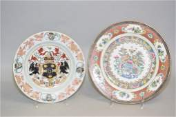 Two 18-19th C. Chinese Porcelain Export Plates