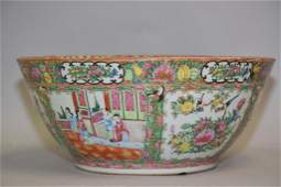 Large 19th C Chinese Porcelain Famille Rose Medallion