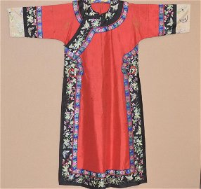 Qing Chinese Embroidered Woman's Robe