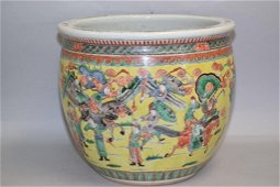 Qing Chinese Porcelain Famille Rose Jardiniere