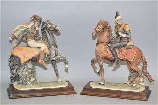 Pr. of 1982 Italian Soldiers Riding on Horse Figures