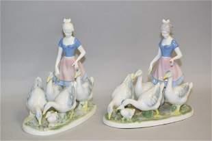 Pr. of Gerold Porzellan Germany Maiden Figurines