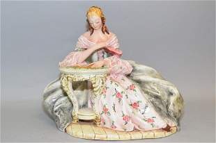 Italian Porcelain Figurine of a Maiden, Signed