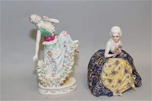Two Vintage Italian Porcelain Maiden Figures