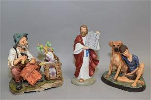Royal Doulton Porcelain Figurines and Two Others