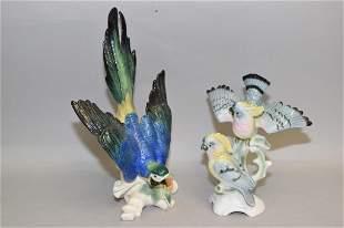 Porcelain Parrot by Karl Ens and Gerold Porzellan Bird