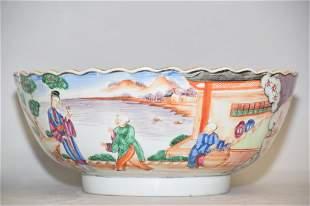 18th C. Chinese Famille Rose Medallion Porcelain Bowl