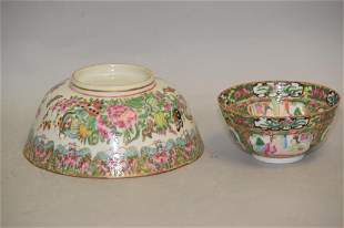 Two 19th C. Chinese Famille Rose Medallion Porcelain