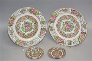 Four 19th C. Chinese Famille Rose Medallion Porcelain