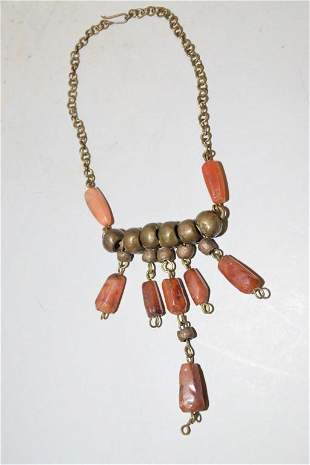 Native American Style Agate Necklace