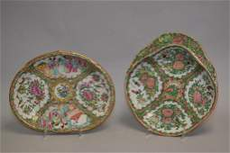 Two 19th C. Chinese Porcelain Famille Rose Medallion