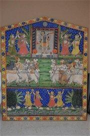 A 19th C. Picchvai of Shri Nathji Amongst Cows