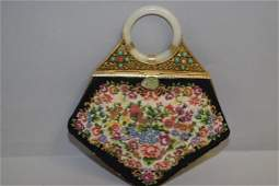 Qing Chinese Jade Bangle Bracelet Inlay Brocade Bag