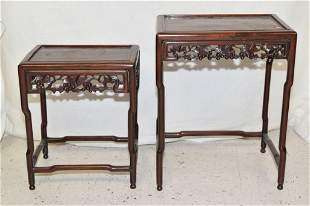 Two Qing Chinese Hongmu Carved Stands