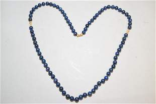 Chinese Lapis Lazuli Bead Necklace