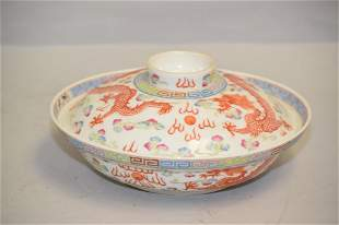 19-20th C. Chinese Porcelain Famille Rose Bowl