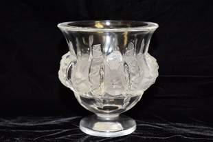 Lalique Clear Crystal Dampierre Vase
