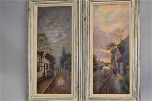 Pr. of Anonymous English Landscape Oil Paitings