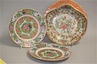 Three 19th C. Chinese Porcelain Famille Rose Medallion