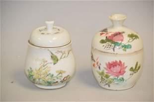 Three 19-20th C. Chinese Porcelain Famille Verte
