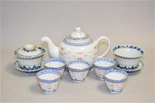 Group of 19-20th C. Chinese Porcelain Ling'lung Tea