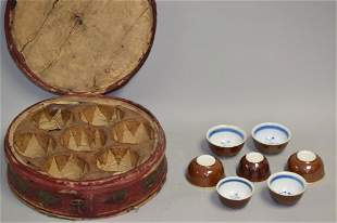 Set of 19-20th C. Chinese Porcelain Paste Glaze Cups