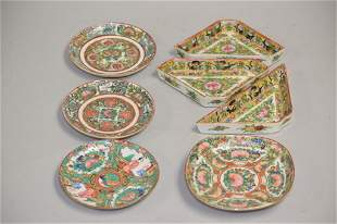 Group of 19th C. Chinese Porcelain Famille Rose