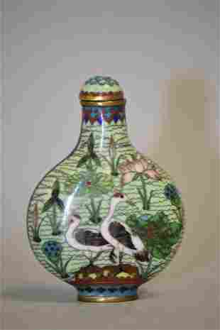 19-20th C. Chinese Cloisonne Snuff Bottle