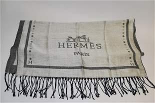 Hermes H Logo Pashmina Scarf