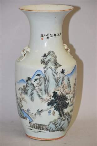 19-20th C. Chinese Porcelain Famille Verte Vase