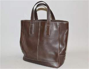 Coach Brown Leather Tote Bag