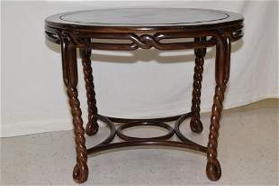 19-20th C. Chinese JiChi Wood Carved Table