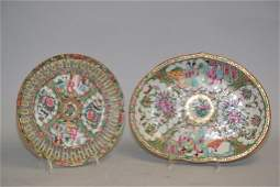 Two 19th C. Chinese Porcelain Famille Rose Medalli