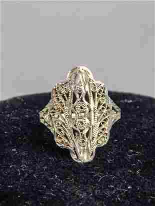 925 Silver Costume Ring