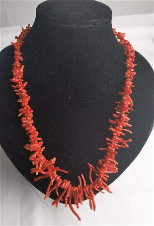 Natural Red Coral Necklace