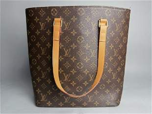 Louis Vuitton Style Leather Tote Bag