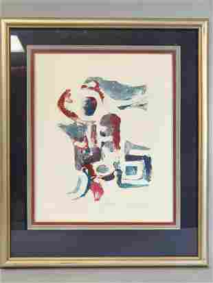 """1980 """"Untitled"""" Watercolor Painting by Jack Eggman"""