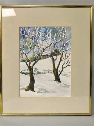 Landscape Watercolor Painting by Pat Wittlitt