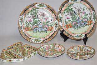 Group of 19th C. Chinese Porcelain Famille Rose Plates
